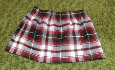 Vintage-Look Red & White Tartan 12  Inch  Mini Skirt size 8