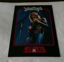 Judas Priest Vintage Trading Card 1991 Heavy Metal Glenn Tipton MegaMetal #59