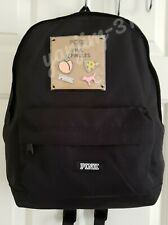 VICTORIA SECRET PINK MINI BACKPACK WITH PINS - BLACK - NEW