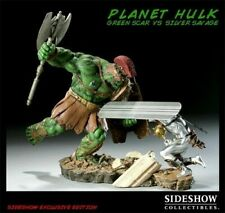SIDESHOW EXCLUSIVE PLANET HULK GREEN SCAR VS SILVER SURFER SAVAGE DIORAMA STATUE