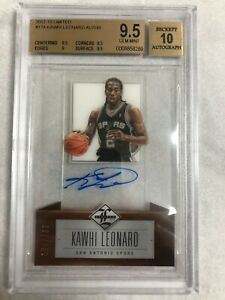Kawhi Leonard RC 2012-13 Panini Limited Auto On Card  /349 BGS 9.5 / 10
