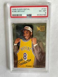 1996-97 Fleer Metal Kobe Bryant #137 Los Angeles Lakers RC Rookie HOF PSA 6