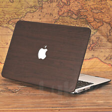 PU Leather Wood Grain Hard Case Cover for Macbook Pro 13 and 2016 Pro 13 Retina