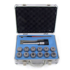 15 Pcs ER40 Collet Set HFS Wrench in Fitted Strong Box R8 Shank R