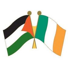 Palestine Ireland Flags Pin Badge - Irish Republican Palestinian Solidarity
