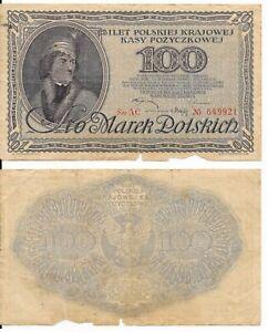100 MAREK,POLAND 1919