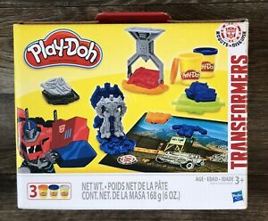 Play-Doh Transformers Robots Disguise Activity Set With Play Mat 3 Tubs Doh New
