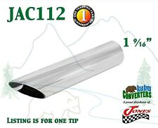 "JAC112 1.5"" Chrome Angle Cut Exhaust Tip 1 1/2"" Inlet / 1 3/4"" Outlet / 8"" Long"