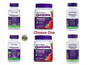 Natrol Melatonin 3mg 5mg 6mg 10mg Fast Dissolve Time Release 60 90 Tablets Gummy