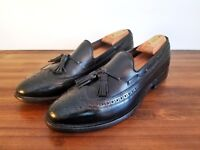 Allen Edmonds 9 A Black Leather Wingtip Loafers Men's Shoes Made in America