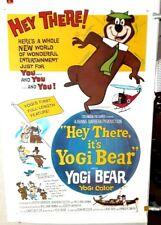 poster on linen HEY THERE It's YOGI BEAR 1964 USA1sht LinenBacked HANNA& BARBERA