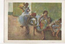 Edgar Degas Danseuses Sur Une Banquette Art Postcard 202b