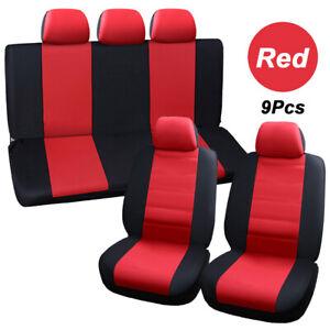 9pcs cover universal front seat back headrest car