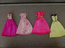 Barbie Clothes-4 Gowns-2 Pink Label-2 Purple Label -Lot D16