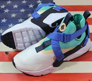 Nike Air Huarache City Womens 5.5 Running Shoe White/Sail/Green/Blue[AH6787-103]