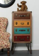 Vintage/Retro Wood 4 Chests of Drawers