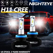 NIGHTEYE H8 H9 H11 8000LM LED Headlight Bulbs Conversion Kit 6000K Low Beam Lamp