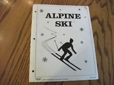 Taito Alpine Ski Arcade Game Owners Service Manual and Parts Guide Coin-op