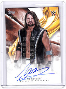 AJ Styles 2019 Topps WWE Undisputed auto #3/99