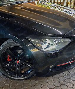 Eyelids BMW F20 pre lift 1 series ABS plastic headlight spoiler eyebrow ögonlock