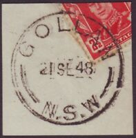 "NSW POSTMARK ""GOLLAN"" DATED 21/9/1948 - POST OFFICE CLOSED 29/11/1952 (A11146)"