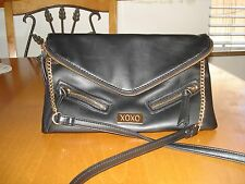 XOXO black handbag with gold hardward