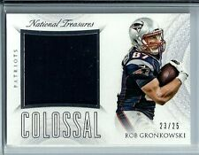 2015 National Treasures Col Jersey/Patch Rob Gronkowski D# 23/25 SP N.E.Patriots