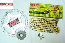 Kawasaki KLE650 Versys 2006 to 2016 DID Gold X-Ring Chain & JT Sprockets Kit Set