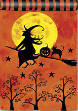 "Witch's Ride Garden Flag Halloween 12.5"" x 18"""