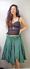 Zara TRF Boho Hippie Gypsy Pirate Festival Size: M Green Skirt Made in India