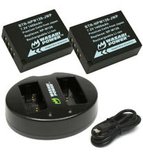 Wasabi Power 1400mAh Battery (2-Pack) + Dual USB Charger for Fujifilm NP-W126