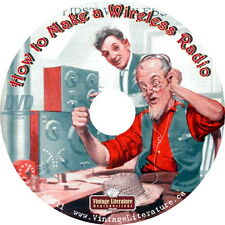 How To Make a Wireless Radio { 1911 Plans and Parts Book } on DVD