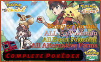 Complete Pokedex - ALL 153 Shiny & Normal Pokemon Let's Go / HOME Fast Delivery