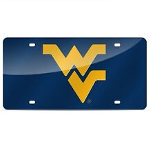 West Virginia Mountaineers Mirrored Laser Cut License Plate Laser Tag