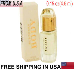Burberry Body Perfume by Burberry,0.15 oz/4.5ml Mini Eau De Parfum Spray Women's