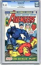 Avengers  #136  CGC  9.4  NM  Off-white to wht pgs  6/75  Beast Origin  Gil Kane