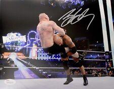 "WWE Bill Goldberg Autographed 8x10 ""Spear"" Photo JSA Witnessed"