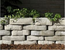 2 Plastic Molds for Concrete  Natural Edge Retaining Wall Stone  Cement Forms