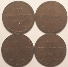 1 Centime 1851 A x 4 exemplaires, TTB !!