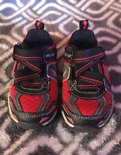 Skechers S Lights Pillar 2.0 Hawk Black Red Grey Toddler Size 5 Shoes