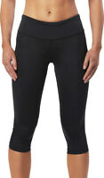2XU Mid-Rise 3/4 Womens Compression Tights Black Exercise Gym Run Workout Capri