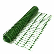 5m Green Plastic Safety Barrier Netting. Mesh Fencing for Events & on Site.