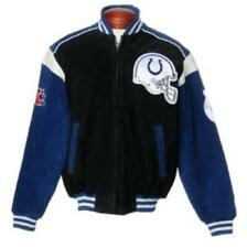Colts NFL Full-Zip Suede Varsity Jacket by GIII SMALL