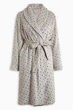NEXT LADIES GREY FOIL STAR DESIGN SUPER SOFT ROBE DRESSING GOWN SMALL/MED/LARGE