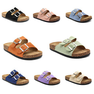 Damen Sandalen Plateau Pantoletten Freizeit Schuhe Sommerschuhe Worker Schlappen