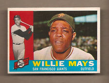 1960 TOPPS WILLIE MAYS BASEBALL CARD #200 - EXCELLENT+ CONDITION! GIANTS