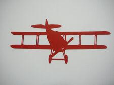scrapbooking embellishment red biplane