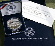 1992 W White House Commemorative 90% Silver Dollar US Proof Coin Box and COA