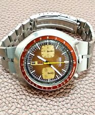 Seiko Bullhead Chronograph Brown Dial  6138-0040 automatic