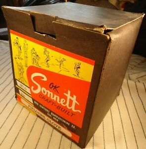 1960's colorful SONNETT baseball model MLS GLOVE BOX (used) Box only-NO GLOVE
